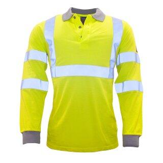Flammhemmendes, antistatisches Warnschutz-Langarm-Polo-Shirt