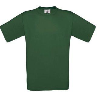 T-Shirt B & C, flaschengrün, inkl. Brust und Rückenlogo in gelb