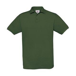 Polo Shirt B & C, flaschengrün, inkl. Brust und Rückenlogo in gelb