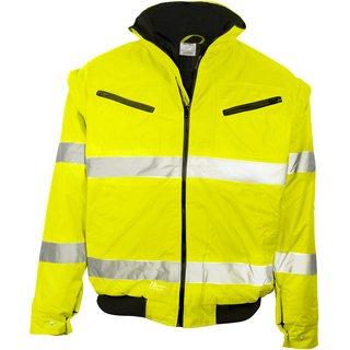 Warnschutz-Pilotenjacke Prevent®, neongelb, inkl. Brust- und Rückenlogo in grün