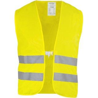 Warnschutz-Weste neongelb, Standardgröße, EN20471 Klasse 2, mit Brust- und Rückenlogo