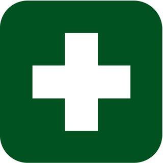 Logo Ersthelfer (Kreuz) auf Brust (8 cm) und Rücken (10 cm) einfarbig grün