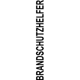 "Logo Rücken Schriftzug ""Brandschutzhelfer"" einfarbig grün"