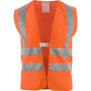 Warnschutz-Weste leuchtorange, mit Schulterreflex