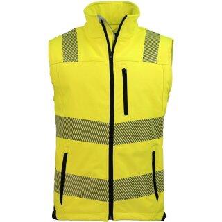Warnschutz Softshell-Weste, gelb-schwarz