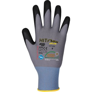 Feinstrickhandschuh Mikroschaum, HIT Flex Plus, grau