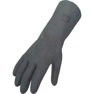 Chemikalienschutzhandschuh Neoprene schwarz, Lebensmittelgeeignet,