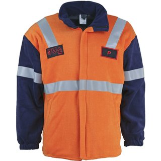 Fleecejacke Multinorm (RWE) Orange/Blau