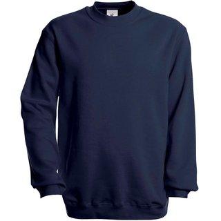 Sweat Shirt B & C, marineblau, inkl. Brust und Rückenlogo in gelb