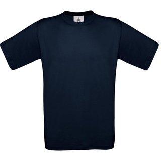 T-Shirt B & C, marineblau, inkl. Brust und Rückenlogo in gelb