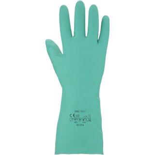 Chemikalienschutz-Handschuh - Nitril - Farbe: grün