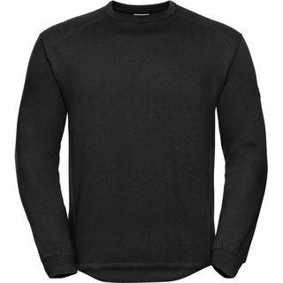 Sweatshirt Russel Set in, schwarz, inkl Brustlogo 1-farbig grün 10 cm