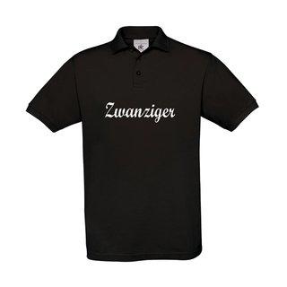 Herren Polo-Shirt, inkl. zwanziger Logo