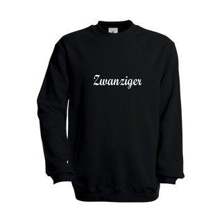 Herren Sweatshirt, inkl. zwanziger Logo