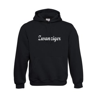 Herren Sweatshirt mit Kapuze, inkl. zwanziger Logo