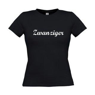 Damen T-Shirt, inkl. zwanziger Logo