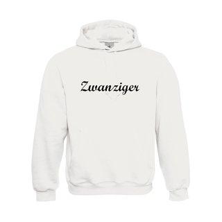 Damen Sweatshirt mit Kapuze, inkl. zwanziger Logo
