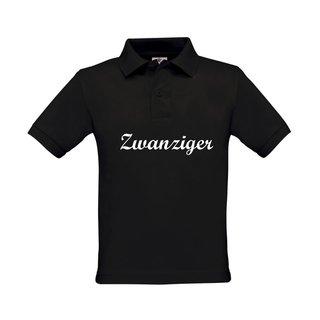 Kinder Polo-Shirt, inkl. zwanziger Logo