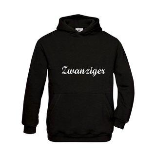 Kinder Sweatshirt mit Kapuze, inkl. zwanziger Logo