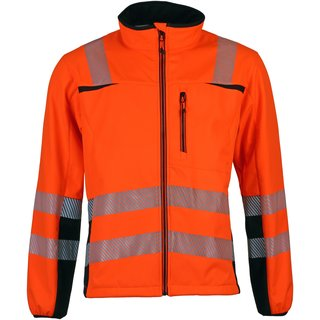 Warnschutz Softshelljacke Innovative Prevent® Trendline leuchtorange