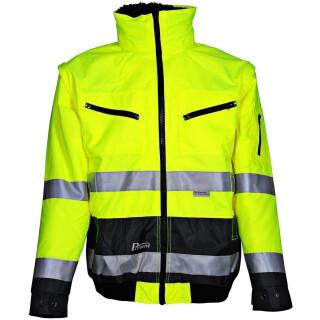 Warnschutz-Pilotenjacke Prevent® Trendline, neongelb/grau,