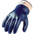 Nitrilhandschuh blau, Stulpe, vollbeschichtet, Gr. 10