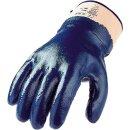 Nitrilhandschuh blau, Stulpe, vollbeschichtet, Gr. 11
