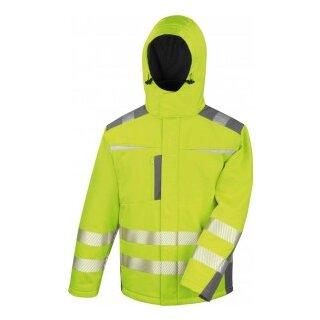 Warnschutz-Softshell Parka Prevent® Trendline Premium, neongelb,